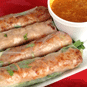 Pork patty spring rolls!