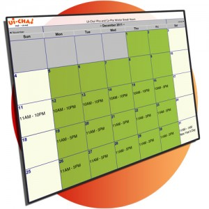 Ui-Cha!'s winter break Calendar